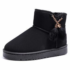 WARORWAR新品YM161-687冬季韩版平底舒适女士雪地靴