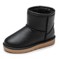 童鞋儿童雪地靴女童靴子防水加绒加厚保暖冬季鞋宝宝短靴男童棉靴