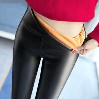 打底裤 女士加绒加厚打底裤2020秋冬新款韩版紧身高腰学生女式pu皮裤