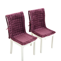 毛绒餐桌椅垫套装办公室椅子连体垫坐垫靠垫一体连体椅垫