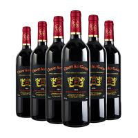法国原瓶进口红酒整箱 干红葡萄酒6支赤霞珠梅洛混酿 750ml*6支