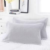 日本爱尚佳品枕巾纯棉一对装情侣枕巾成人枕头巾(52X75cm一对装)RS-6002