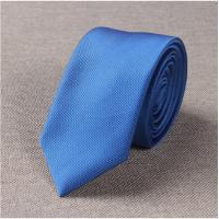 2018年新款窄版领带男韩版休闲纯色6CM结婚礼新郎小细英伦职业窄款紫红黑蓝白