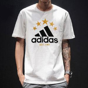 adidas阿迪达斯2018新款男子休闲短袖运动跑步透气T恤DW8925