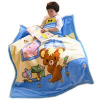 儿童婴儿毛毯双层加厚小毯子秋冬宝宝盖毯双面珊瑚绒毯新生儿被子
