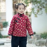 女童棉衣儿童冬装女棉袄加厚小孩冬季外套加棉中国风童装宝宝