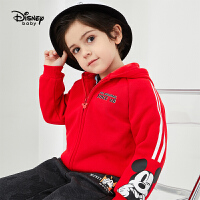 超品返场【3折预估价:66.3元】迪士尼男童连帽童装外套2020春秋新款宝宝儿童卡通印花洋气上衣