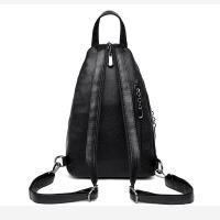 双肩包背包女包2018夏天新款韩版百搭斜跨胸包软皮运动迷你小包包
