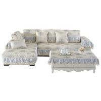 欧式亚麻提花沙发垫布艺防滑皮沙发坐垫子现代简约定做沙发巾罩套