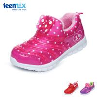 百丽天美意teenmix童鞋17冬儿童运动鞋毛毛虫休闲鞋加绒户外鞋 (5-10岁可选) DX0289