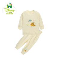 【2件3.5折到手价:48.3】迪士尼Disney 春秋童装内衣男女宝宝纯棉套装153T626