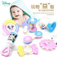 新生婴儿宝宝玩具可水煮幼儿摇铃0-3-6-12个月女孩儿童益智0-1岁