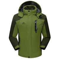 新款冬季保暖冲锋衣男女加绒加厚登山服户外套情侣款防风防水大码 3X