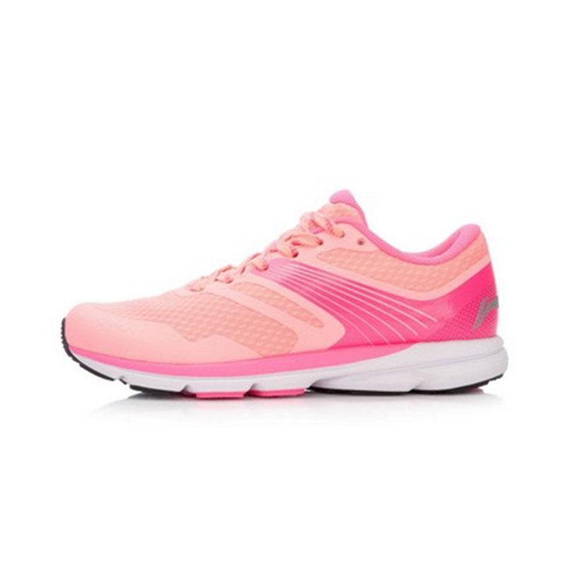 李宁女子赤兔跑鞋运动鞋轻便透气舒适跑步鞋学生鞋女款(无芯片)ARBK086 不带智能芯片