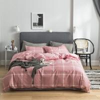 全棉简约轻奢四件套北欧ins风床单被子纯棉网红三件套床上用品定制! 被套:220*240 床单:245*270 枕套4