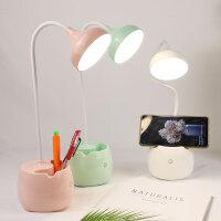 led笔筒小台灯USB可充电触摸台灯大学生护眼学习阅读书桌宿舍床头