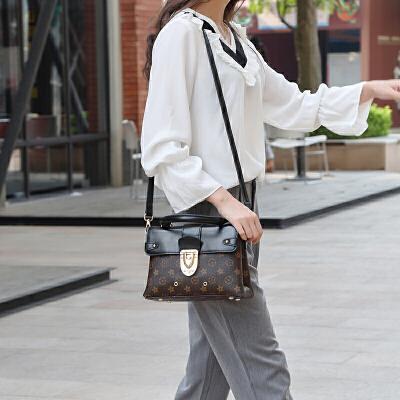 复古女包2018新款时尚手提包简约百搭夏季单肩斜挎包真皮女士包包