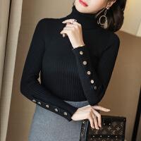 高领修身打底毛衣女长袖内搭2018冬新款韩版短款纯色毛针织衫