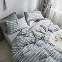 ins水洗棉四件套日式被套床笠少女心床上用品床单三件套