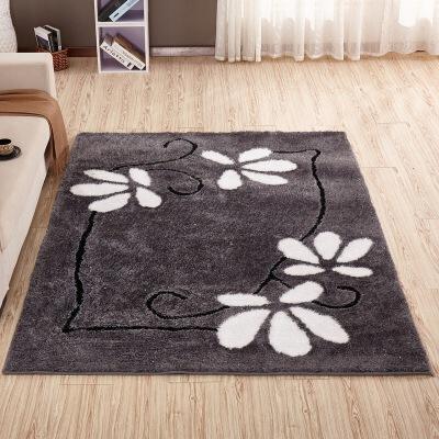 【领券立减40】幸阁 弹力丝现代亮丝图案地毯 简约客厅茶几地毯支持礼品卡 全新免洗技术 防滑耐用