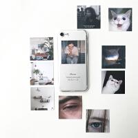艺术风恶搞自制卡片iphone6透明手机壳苹果7plus/8/Xs/Max/XR 7plus/8plus-5.5 +1