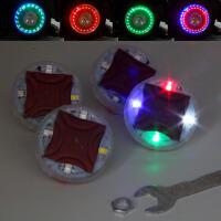 汽车摩托电动轮胎灯轮胎装饰灯太阳能风火轮 七彩气门嘴灯 轮毂灯