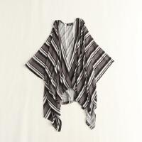女中长款针织开衫 蝙蝠袖宽松大码薄款百搭外套42X