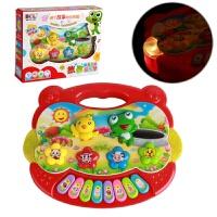 维莱 3C认证 婴幼儿早教学习机 博尔乐5061故事音乐琴 玩具 红色、黄色混发