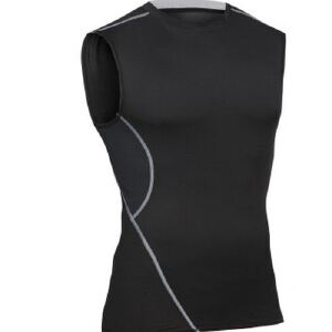 健身服男篮球跑步训练服弹力压缩速干衣运动紧身衣背心MA27