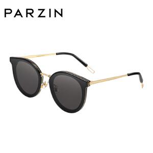 帕森太阳镜 女士金属板材复古大框尼龙镜片潮墨镜 2018新品7718