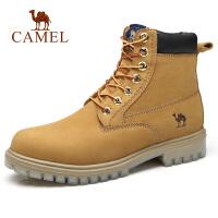 camel骆驼男鞋 新款男鞋硬朗时尚高帮工装鞋靴牛皮潮马丁靴男靴子
