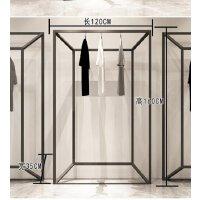铁艺简易服装架男女服装店展示架挂衣架子正挂落地式侧挂衣服货架 其他