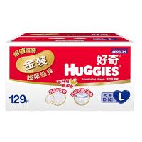 【中粮我买】好奇HUGGIES 金装超柔贴身纸尿裤 L129片(9-14kg)/新老包装随机
