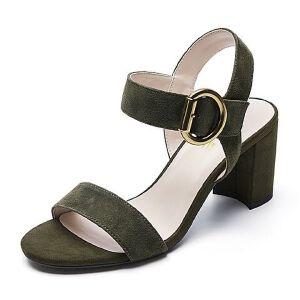 Belle/百丽夏季专柜同款羊绒皮革女皮凉鞋BPFA9BL7