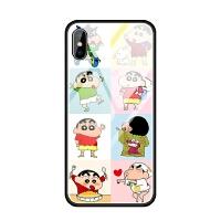 苹果iphoneX 6s 7 8 plus 5se蓝光玻璃手机壳蜡笔小新可爱日韩