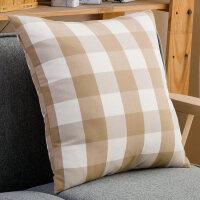 北欧风格子床头靠枕头套大靠垫60沙发抱枕套不含芯正方形家用