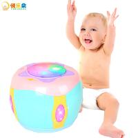 【满199减100】儿童早教手拍鼓玩具 电动音乐声光旋转拍拍鼓乐器启蒙益智助眠 0-3岁婴幼儿宝宝玩具 送男孩女孩生日