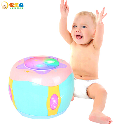 【2件5折】儿童早教手拍鼓玩具 电动音乐声光旋转拍拍鼓乐器启蒙益智助眠 0-3岁婴幼儿宝宝玩具 送男孩女孩生日新年礼物玩具年货节 2件5折 领券折后满200减20 1.15日-1.20日