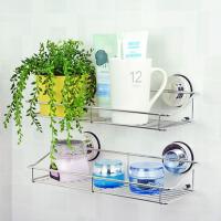 卫生间壁挂储物架吸壁式卫浴不锈钢收纳架 浴室吸盘置物架 单独一层