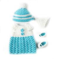 仿真娃娃婴儿30/50厘米换装套装针织毛衣服配件女孩过家家玩具