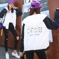 外套少女2018春秋装新款韩版宽松上衣初中高中学生棒球服衣服qg