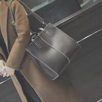 单肩包女大包冬季新款时尚潮韩版百搭斜挎包简约个性手提包包 棕色