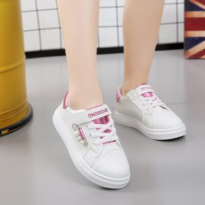 2018秋款韩版百搭网红小皮鞋女童白色板鞋运动鞋小学生单鞋旅游鞋   走进大自然的怀抱,美丽从这里起步。