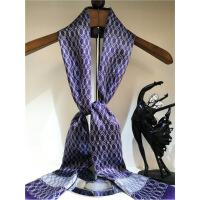 新年优惠【NEW】杭州丝绸士围巾薄款 春秋季英伦丝丝巾缎面围脖