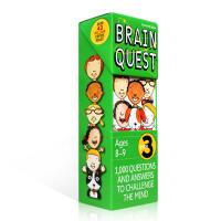 英文原版 认知智力问答开发卡片 Brain Quest Grade 3 大脑任务 3年级儿童益智读物 英语启蒙早教卡片书