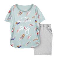 外出喂奶哺乳衣家居服套装 孕妇睡衣夏季薄款月子服产后产妇