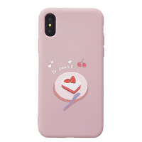 简约抹茶绿iphone7plus手机壳苹果x保护套6/xr/xs max全包软壳女 6/6s 蛋糕