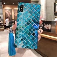 中国风流苏iphoneX苹果8plus全包7plus手机壳6Sp创意女款硅胶软壳 6/6s 4.7流苏鱼鳞