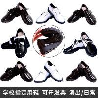 喜言熊 男童黑皮鞋演出鞋春秋儿童鞋子中大童童鞋英伦风学生单