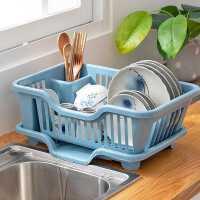 碗筷沥水收纳盒碗柜碗架厨房放碗碟置物架装碗盘篮箱洗碗水槽滤水kb6